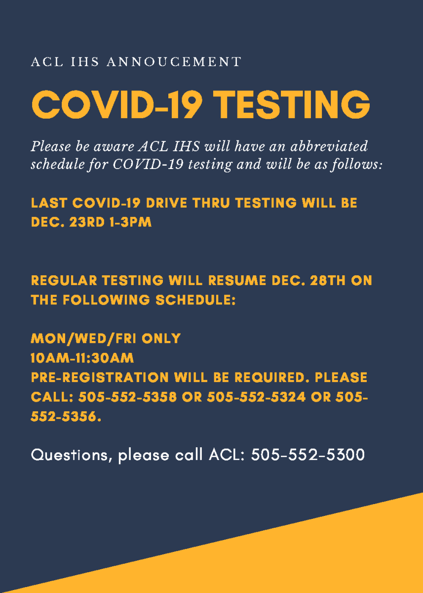 ACL COVID Testing Flyer