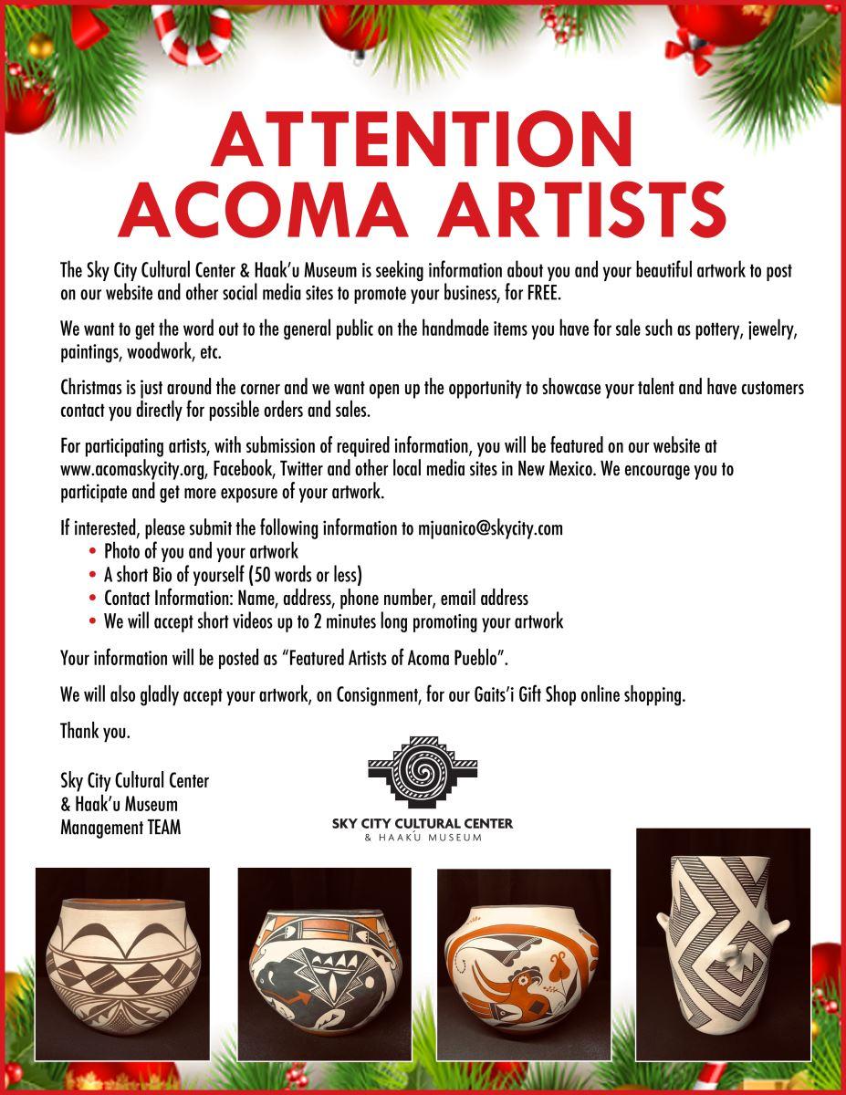 Acoma Artist Flyer