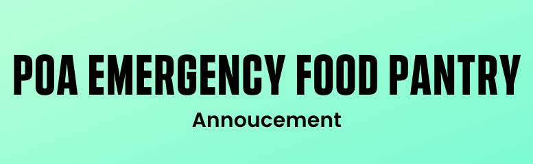 POA Emergency Food Pantry