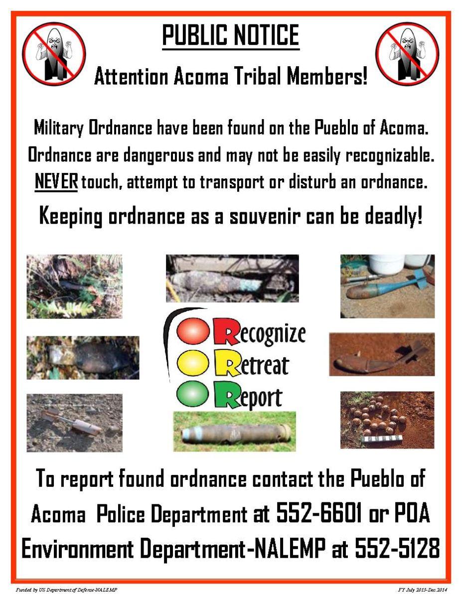 Acoma Tribal Members Notice